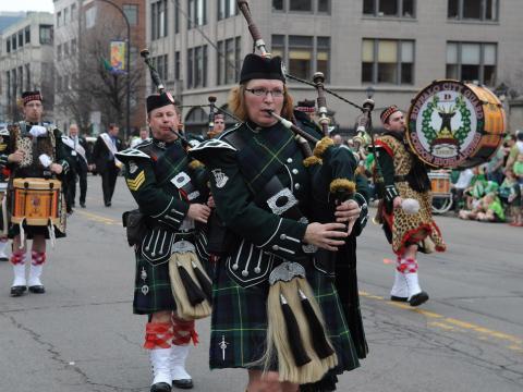 Gaiteros de St. Patrick's Day Parade en Buffalo