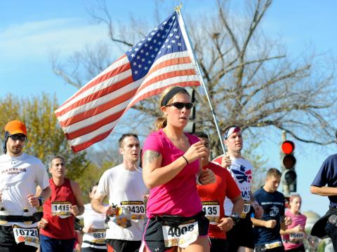 Participantes de la Marine Corps Marathon, que se realiza cada año