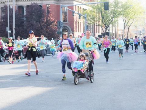 Participando en Montana Women's Run