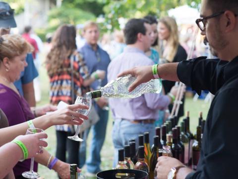 Cata de vinos en el Big Spring Crush Wine and Food Festival